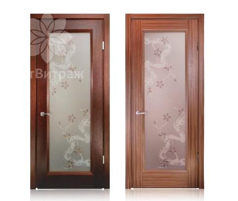 Двери с пескоструйной обработкой
