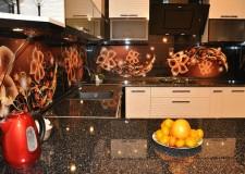 Кухонная панель «Огненные цветы»
