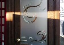 Накладной витраж в двери