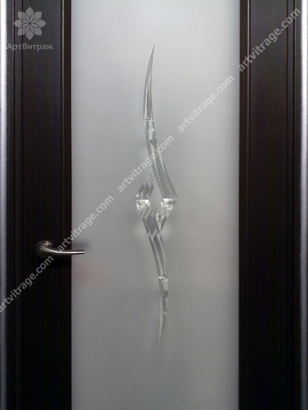 Хрустальный дверной витраж