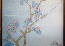 Витражное окно «Нежные цветы»