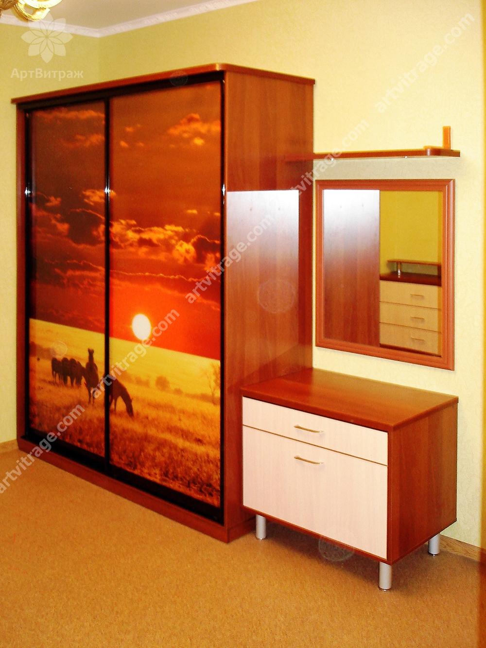 Шкаф с фотовитражом «Закат в прерии»