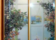 Шкаф-купе с фотовитражом «Летний сад»