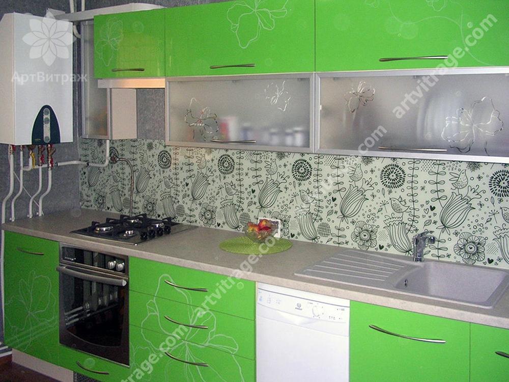 Фартук для кухни «Милые зарисовки»