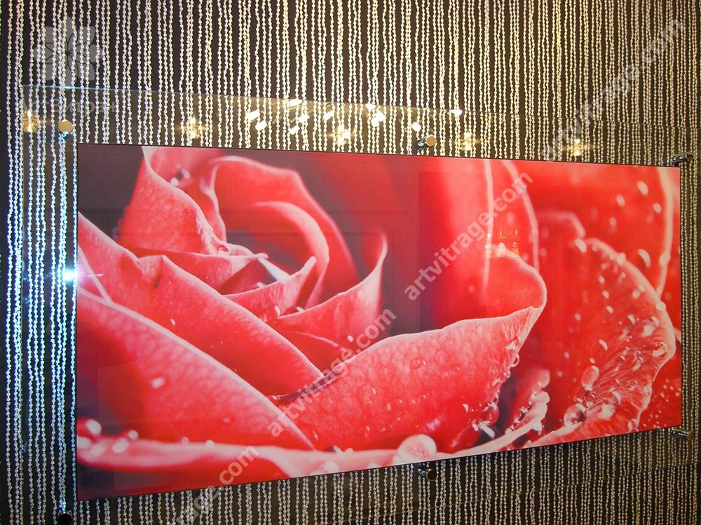 Панно со светодиодной подсветкой «Роза»