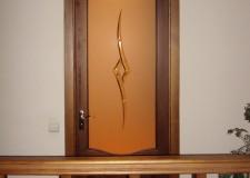 Дверной витраж с хрусталём