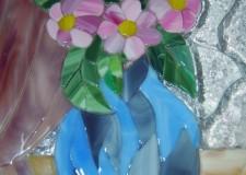 Стеклянная открытка «цветы»