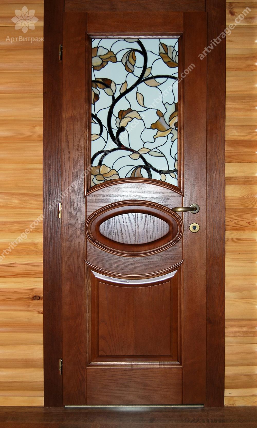 Дверной витраж Тиффани
