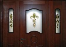 Дверной витраж с хрустальными элементами