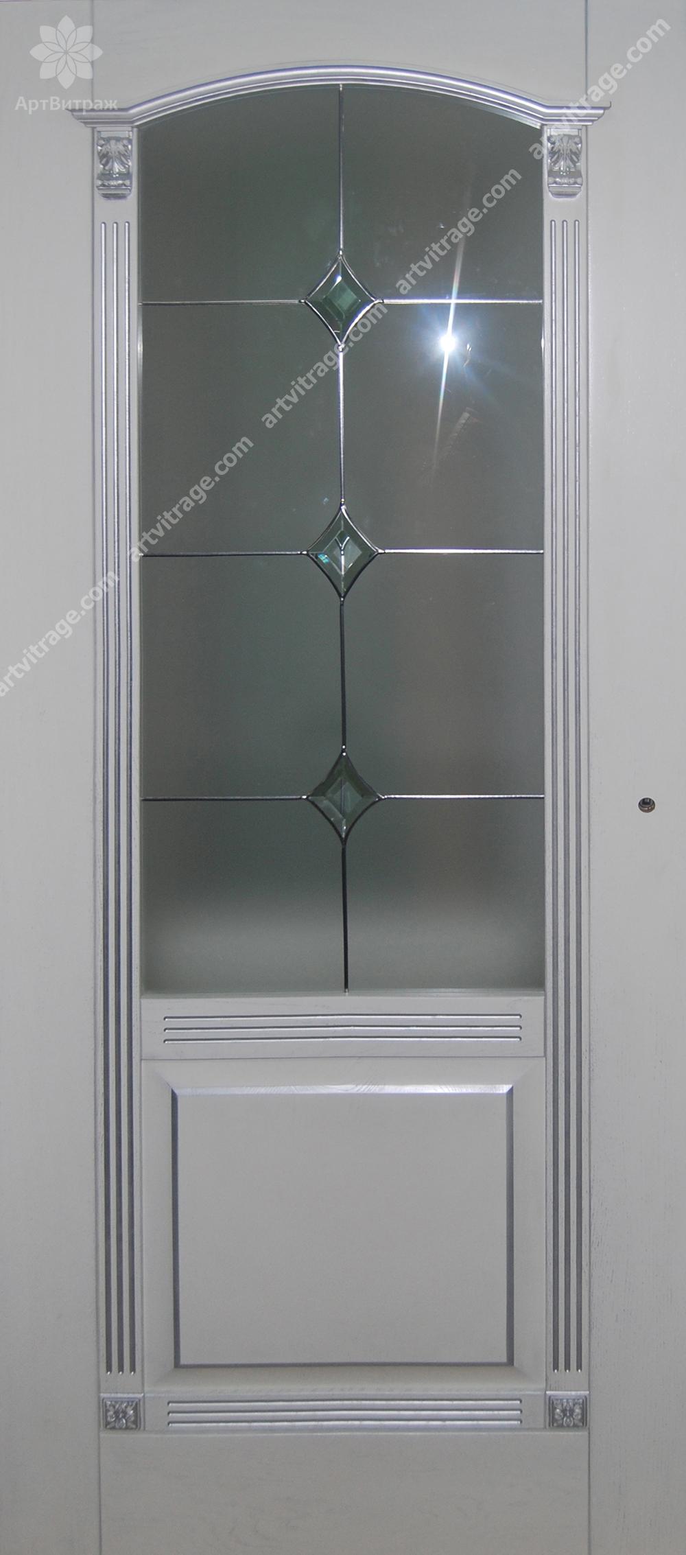 Накладной дверной витраж