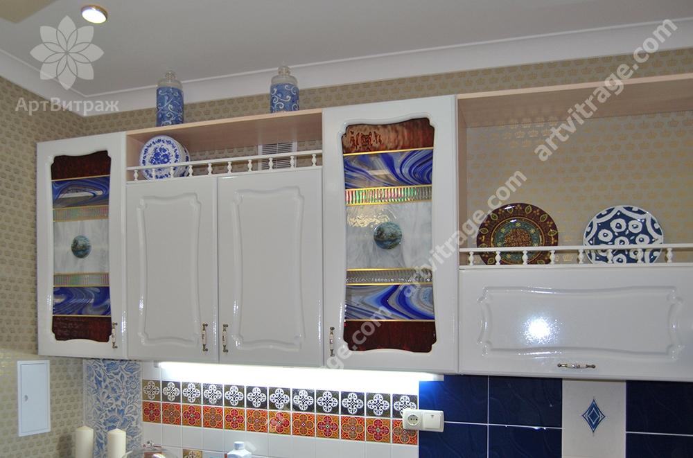 Витражи для фасадов кухни