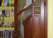 Накладной витраж в дверях