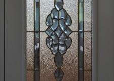 Дверной профильный витраж с хрустальными элеменами