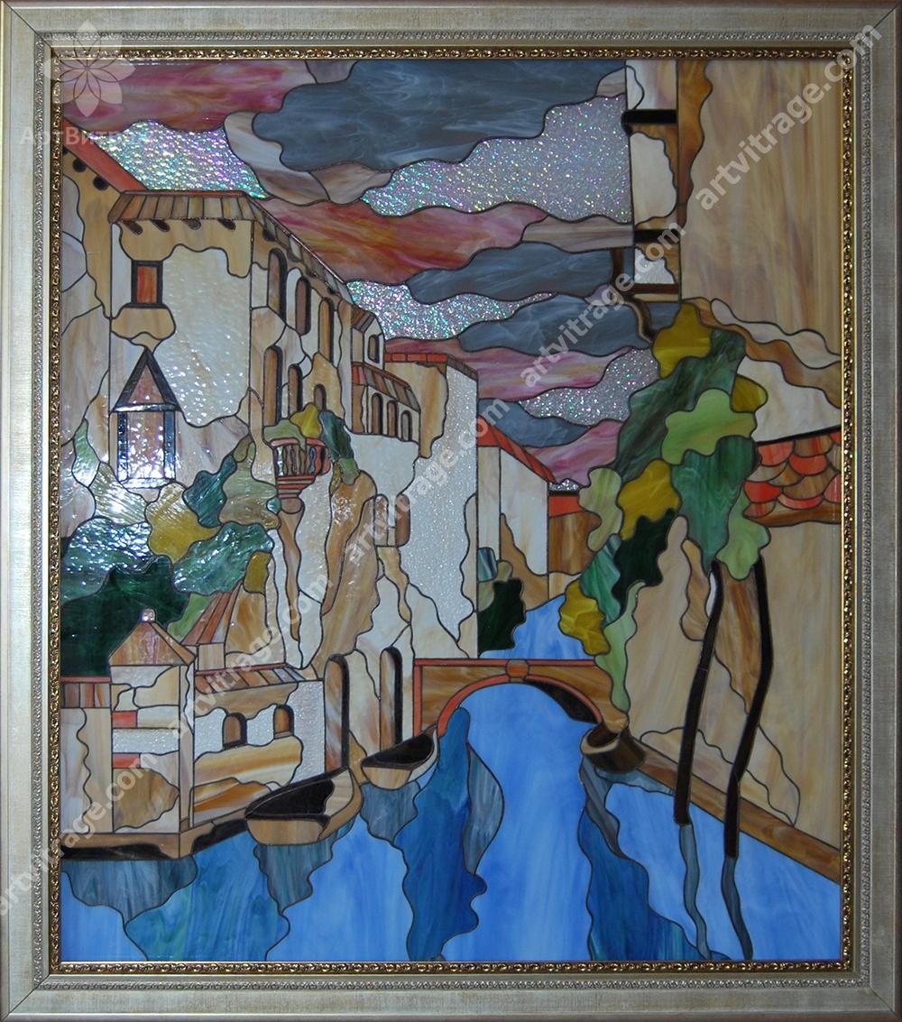 Картина Тиффани с подсветкой