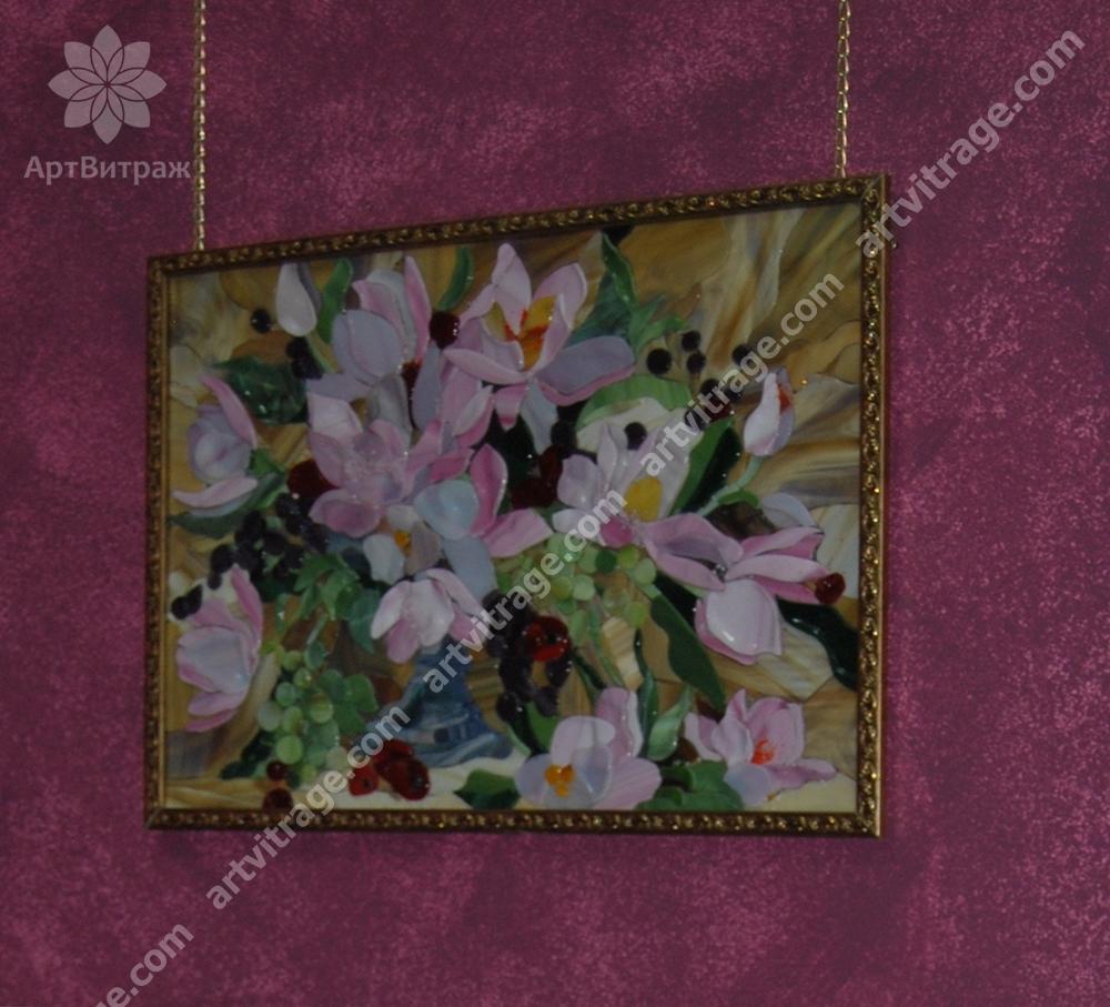 Панно «Натюрморт с лилиями»