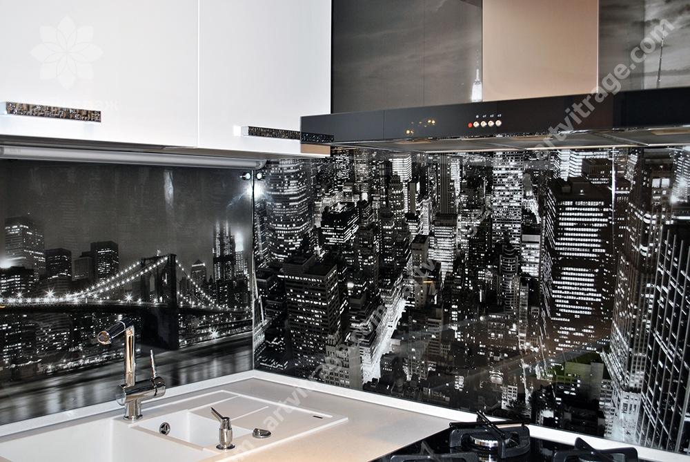Кухонная панель «городская перспектива»