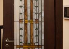 Дверной накладной витраж