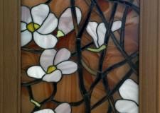 Витражное панно «Цветы»