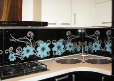 Фотовитраж для кухни «Фантазийные цветы»