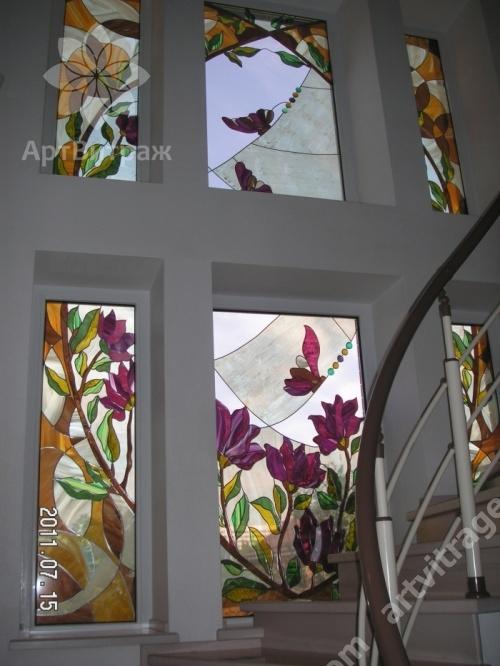 Витражная композиция в окно
